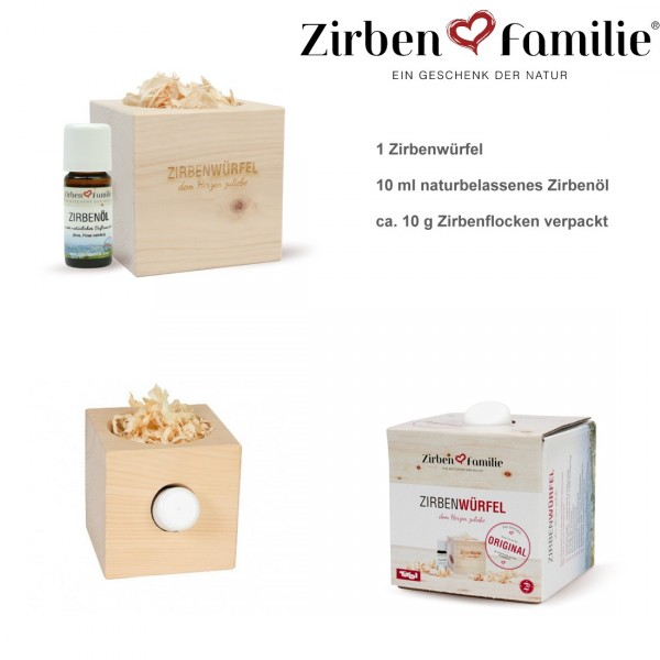 Original Zirbenwürfel Set