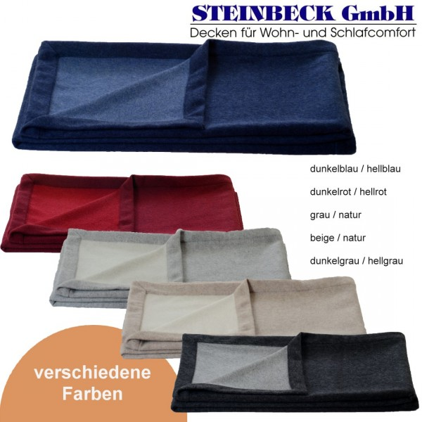 Lambswool Cashmere Decke Como 150x200 cm